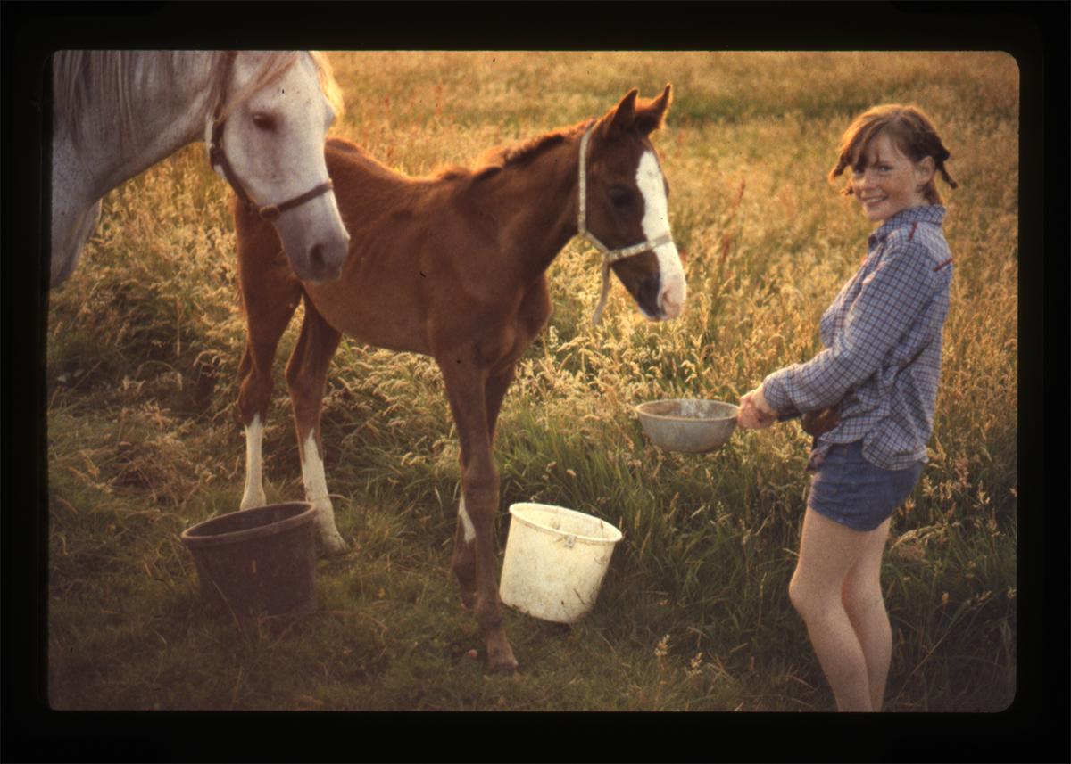 Declan Gilroy Archive // County Sligo :: Young girl & horses