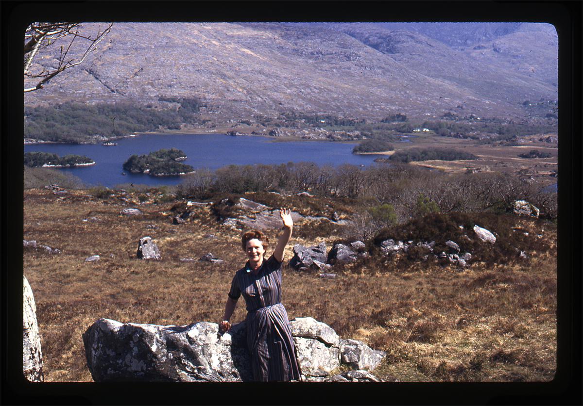 Declan Gilroy Archive // County Sligo :: Maura Gilroy waving