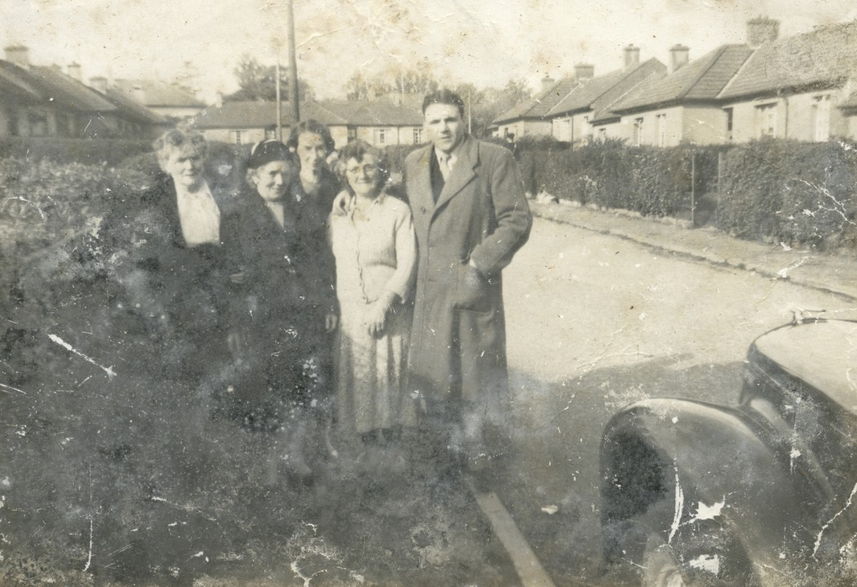 Smith // County Cork :: Michael Smith with his mother and neighbours in Cobh