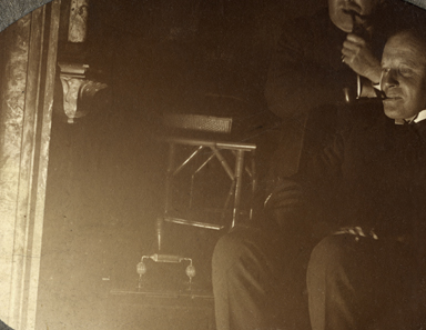 Knight // County Monaghan :: M.E. Knight  at his fireside