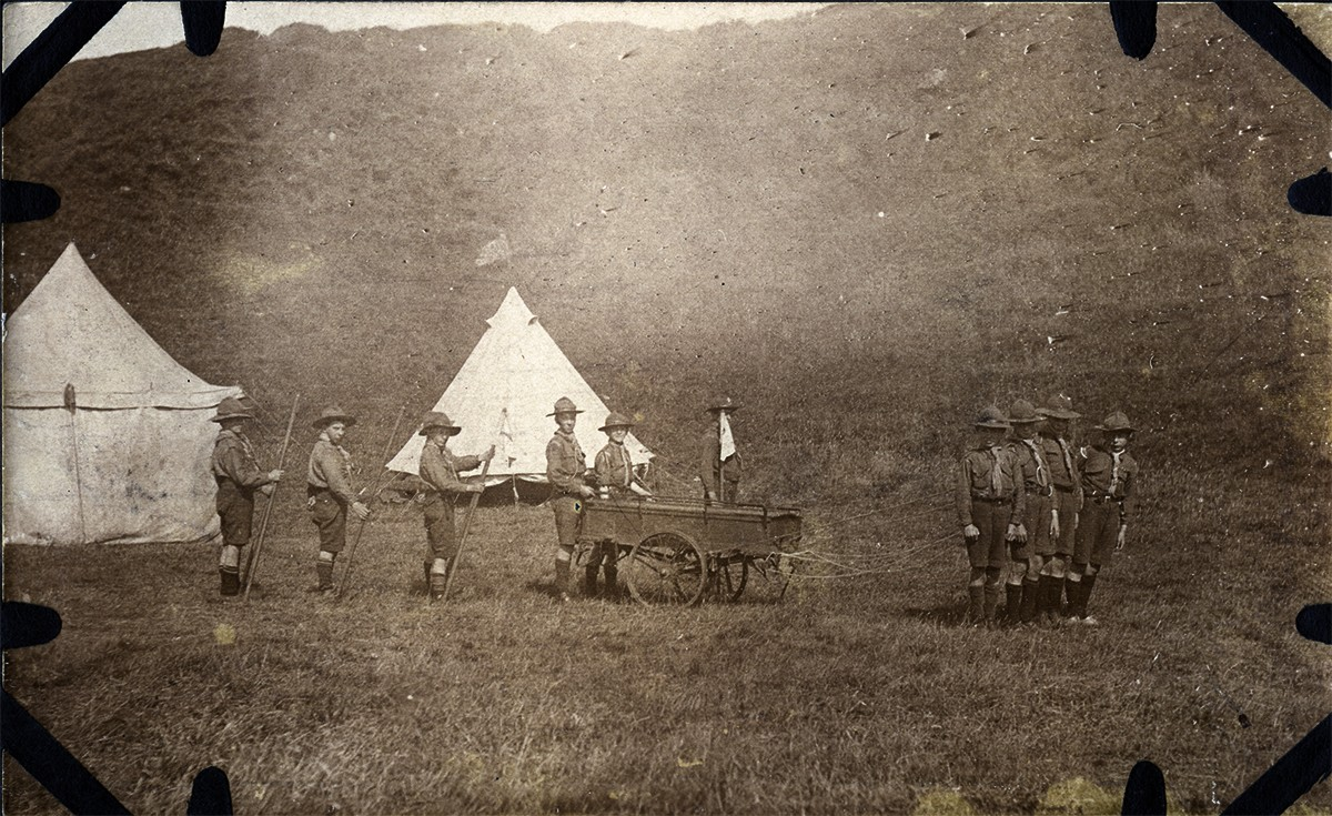 Scott // County Donegal :: Boy Scouts standing for a group photograph
