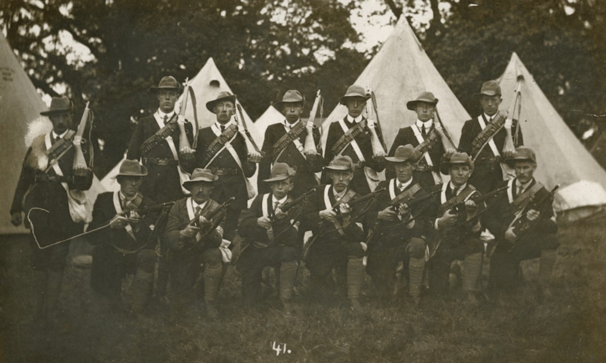 Roulston // County Donegal :: U.V.F group at Baronscourt Derry 1913