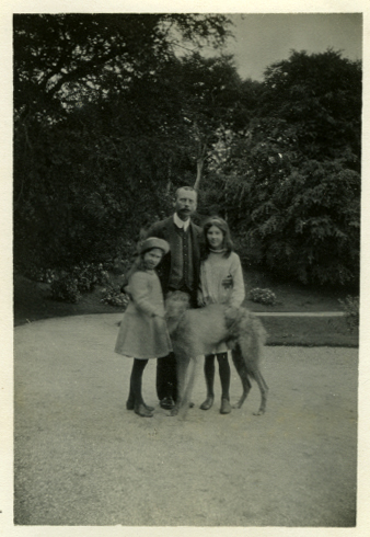Law // County Donegal :: Mary and Ruth Law with their uncle, George Stuart.