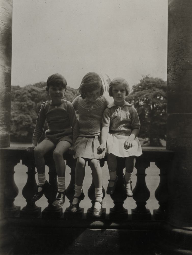 Law // County Donegal :: Stephen and Bridget Law, children of Francis and Rosemary Law accompanied by their cousin at Penicuik, Scotland, circa 1938.