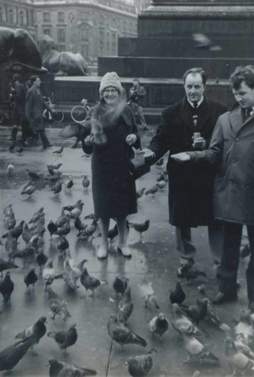 Stewart // County Monaghan :: Member of the Stewart family feeding pigeons
