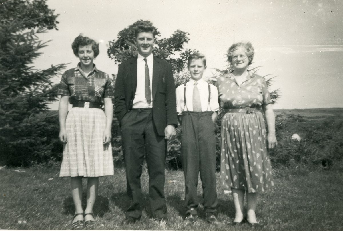 Dwyer Family // Boston and Beara :: Lena Dwyer (right) with her children Eileen, John and Mike, Beara c1959