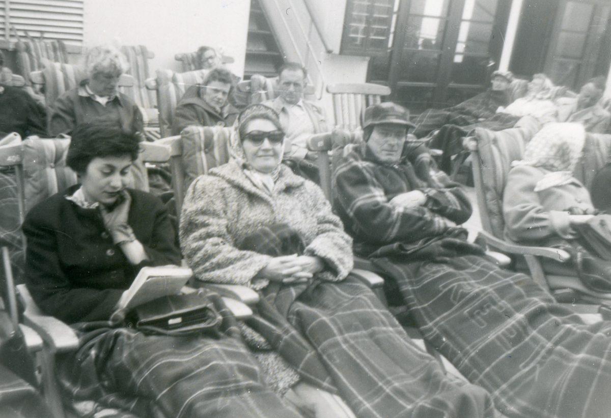 McNally // Boston & Lurgan :: Patrick Joseph (cr) and Mary Rose(cl) (McAtasney) McNally, on board the T.S.S