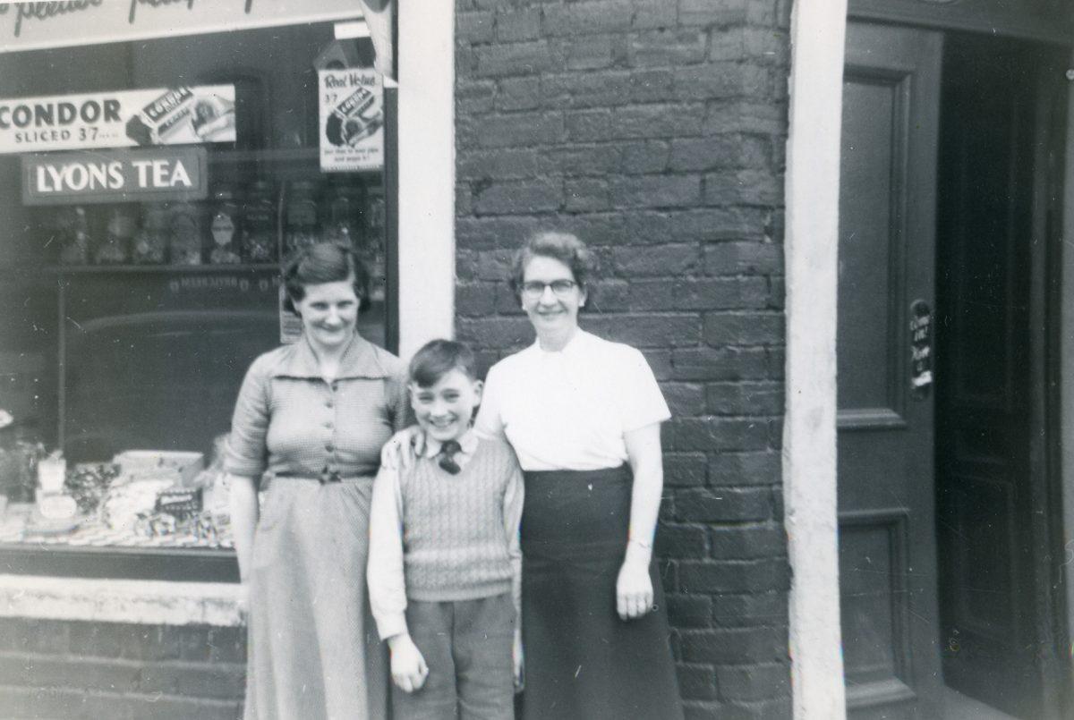 McNally // Boston & Lurgan :: Mary Rose (McAtasney) McNally with woman and boy, Lurgan, N. Ireland, June-July, 1954