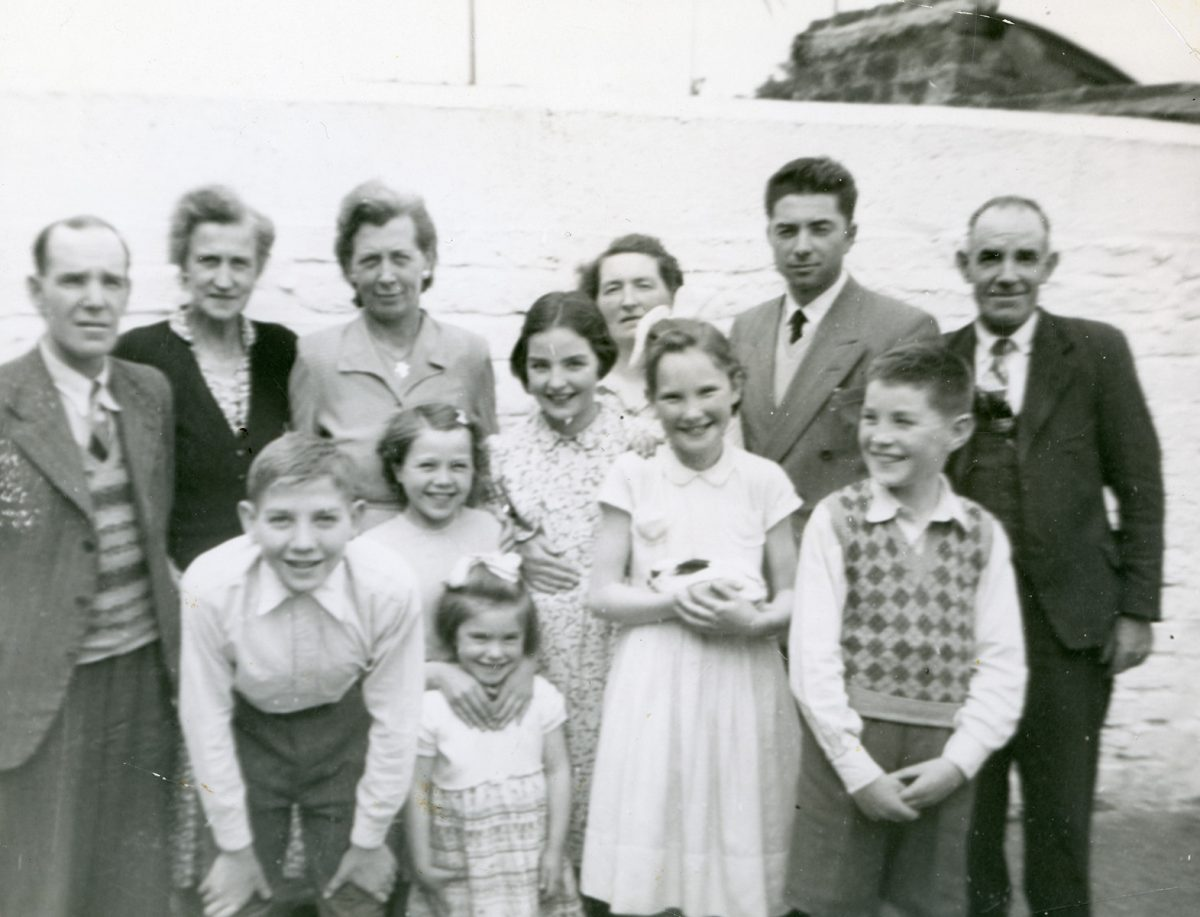 McNally // Boston & Lurgan :: Patrick McNally with McAtasney Family, Lurgan, N. Ireland, August, 1954