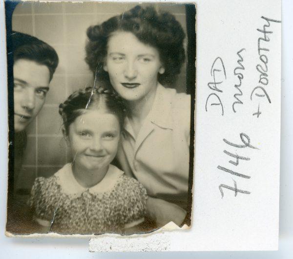 Patrick McNally, Dorothy McNally, Eileen McNally, Quincy, MA, 1946