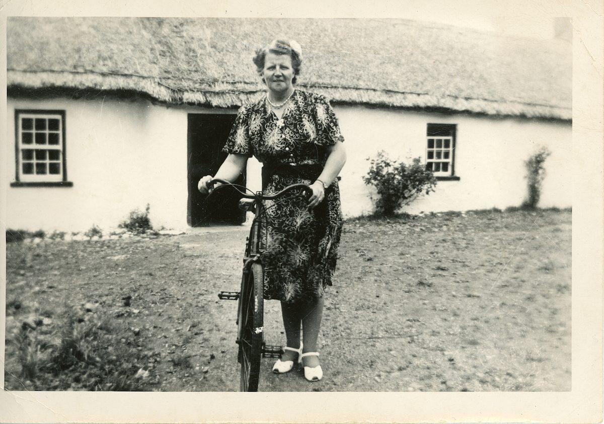McNally // Boston & Lurgan :: Elizabeth Kearns Hendron at her childhood home, Portadown, Craigavon, N. Ireland, 1950s
