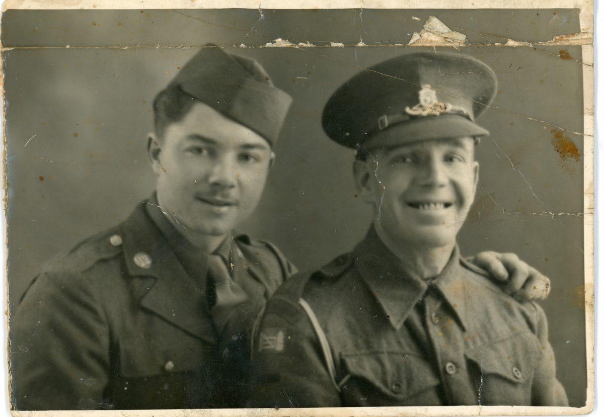 McNally // Boston & Lurgan :: Private Patrick J. McNally, US Army (l) and another officer, 1944-45