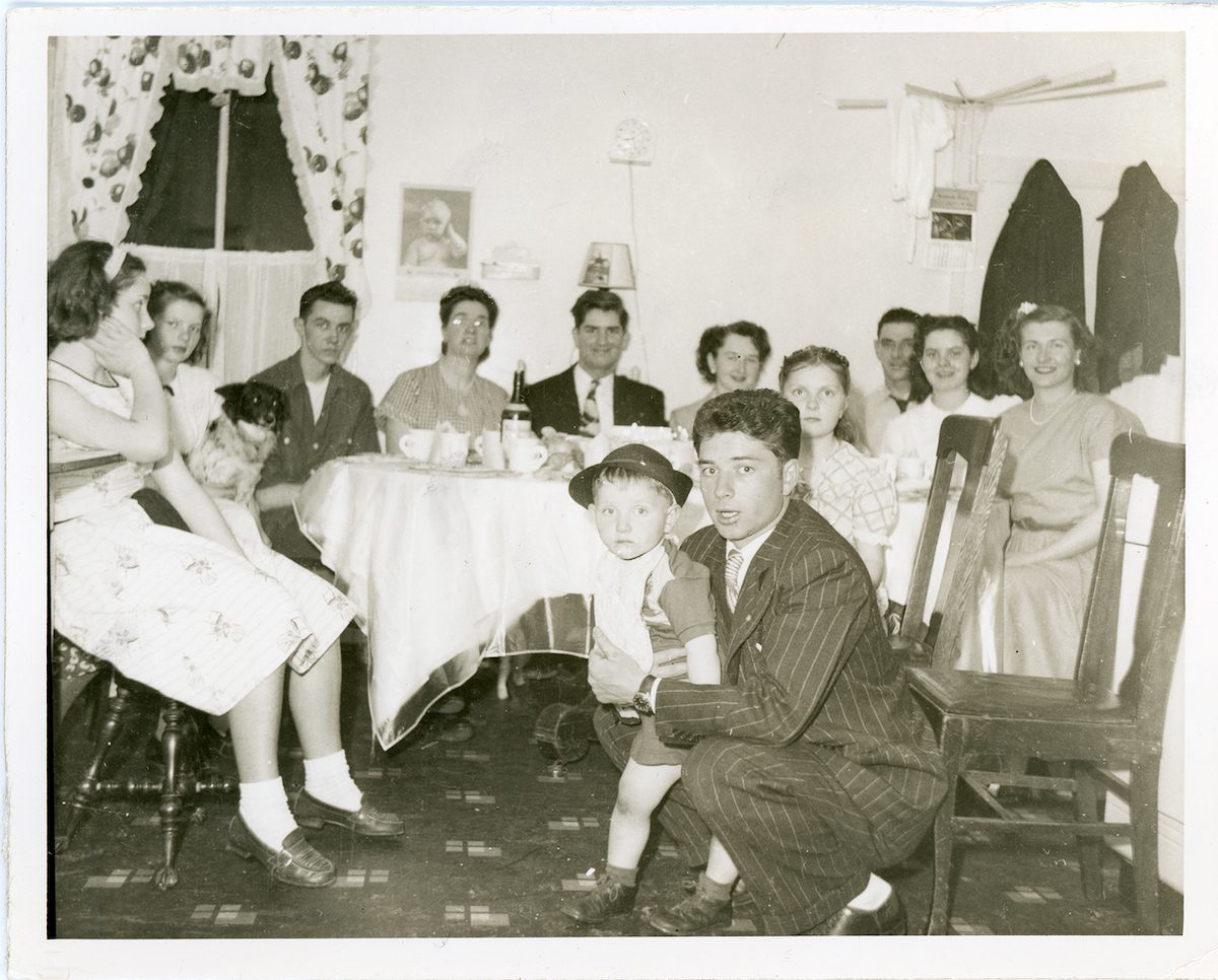 McNally // Boston & Lurgan :: McNally family in the kitchen - North Quincy MA, 1949
