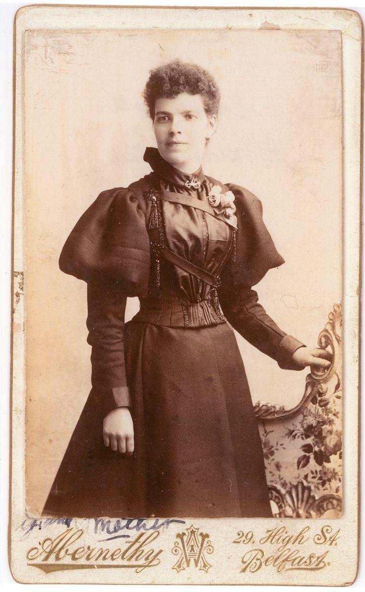 McNally // Boston & Lurgan :: Sarah (Gabby) Morah McAtasney, Abernathy Studio 29 High St.Belfast, N. Ireland, Circa 1890s