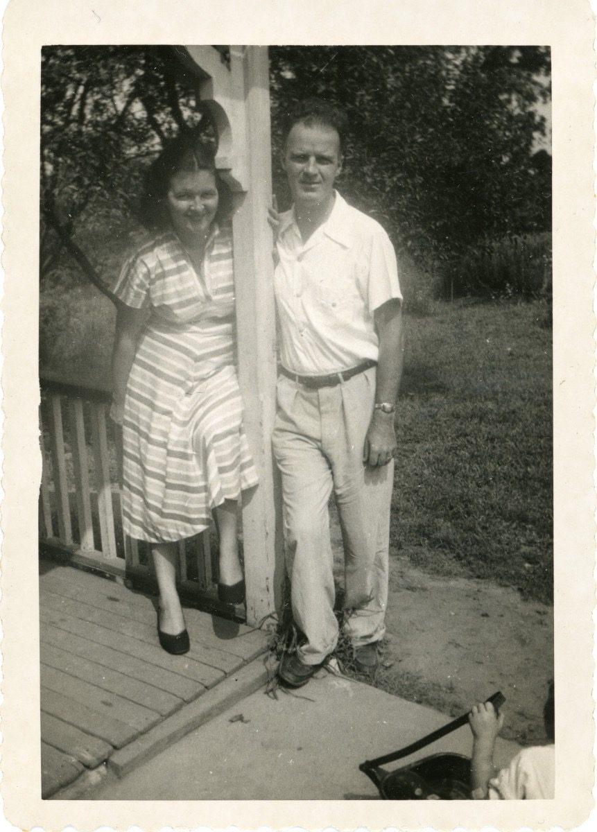 McDermott Family album / Washington DC :: Alice's mother Mildred and Alice's father William, c 1952