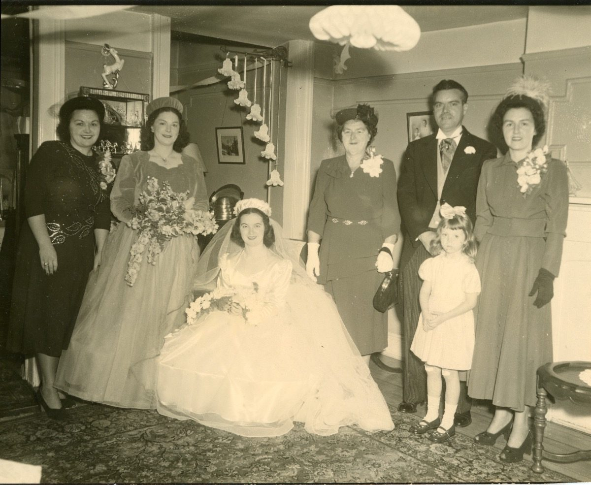 McDermott Family album / Washington DC :: Wedding of Alice's mother Mildred and Alice's father William, September 1948