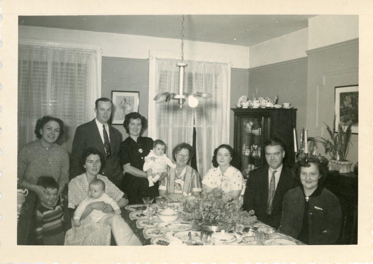 McDermott Family album / Washington DC :: Christmas gathering of Alice's mother's family, New York 1953