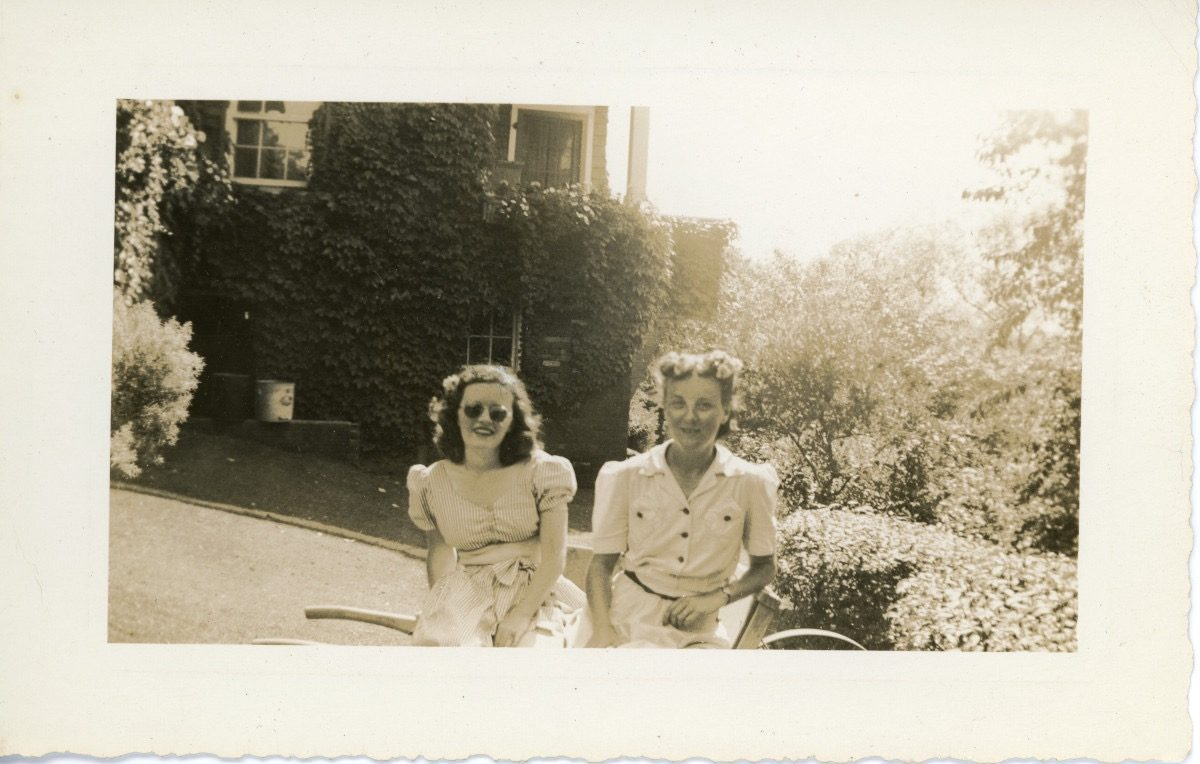 McDermott Family album / Washington DC :: Alice's father's two sisters, Margaret and Lillian, Prospect Park, Brooklyn 1942