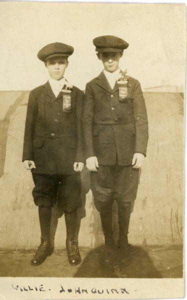 Alice\'s father William McDermott in confirmation photo, around 1916
