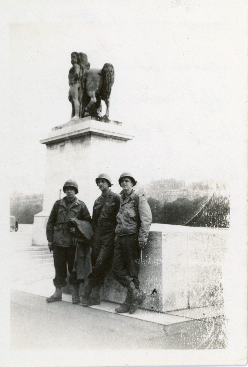 McDermott Family album / Washington DC :: William McDermott, Alice's father, Paris, August 29, 1944, across from the Eiffel Tower