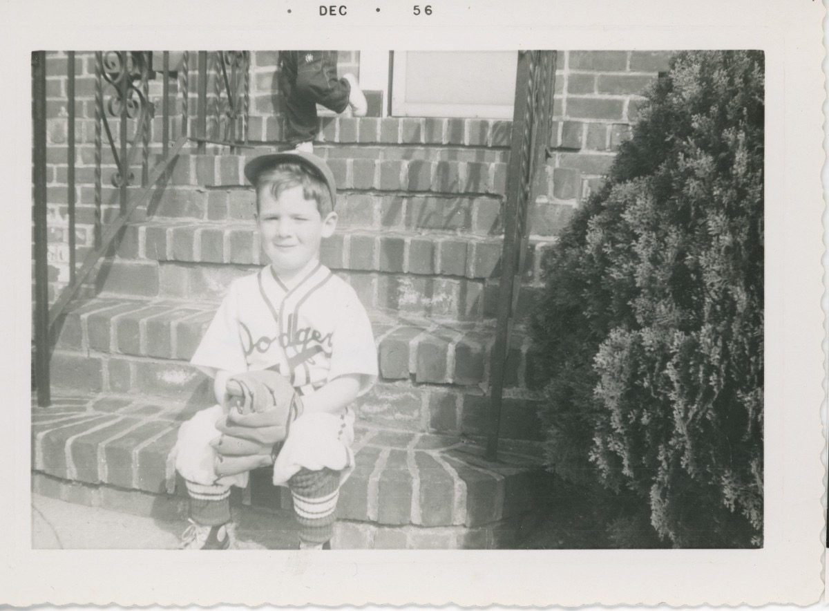 McDermott Family album / Washington DC :: Alice's brother Kevin in Dodgers outfit, 1956