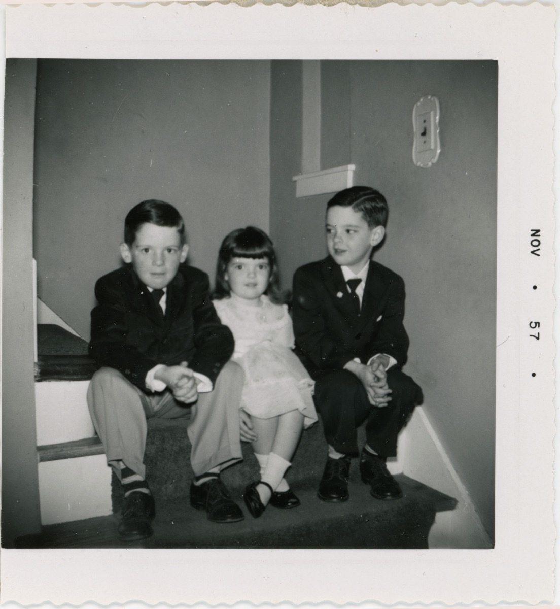 McDermott Family album / Washington DC :: Alice and her two brothers, Elmont, New York, 1957