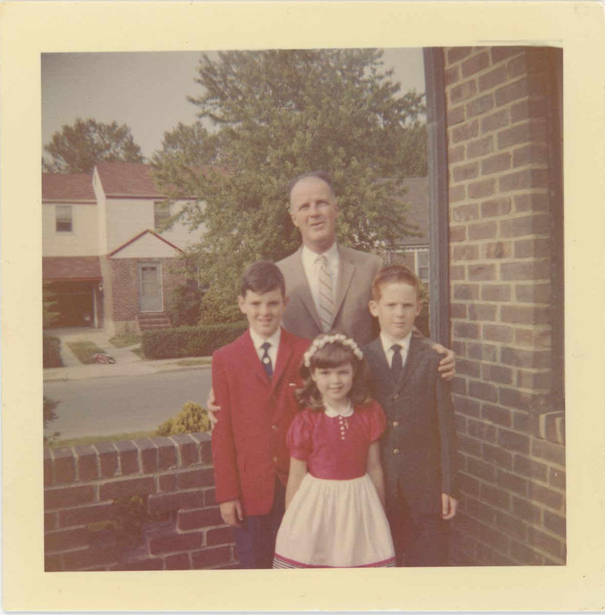 McDermott Family album / Washington DC :: Alice's father William with Alice and her brothers
