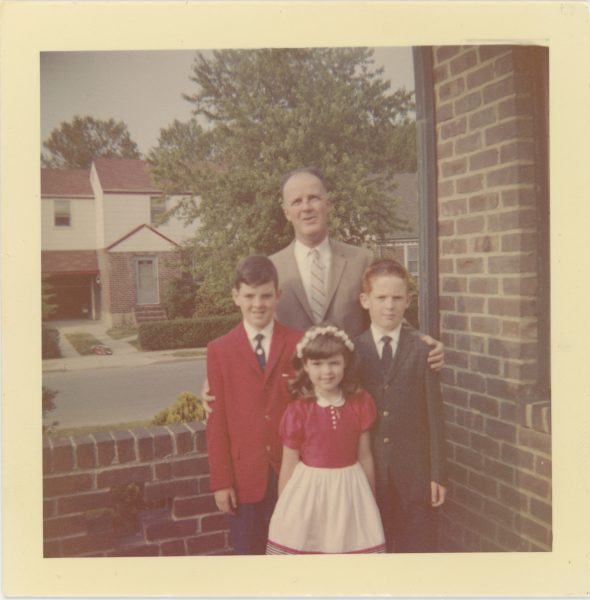Alice\'s father William with Alice and her brothers