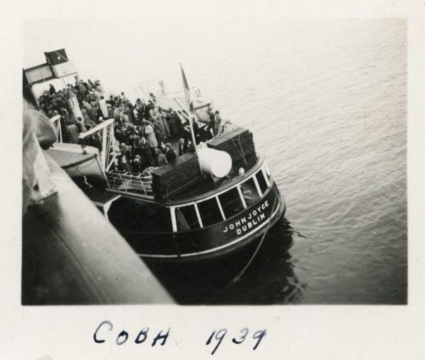 Arriving at Cobh, 1939