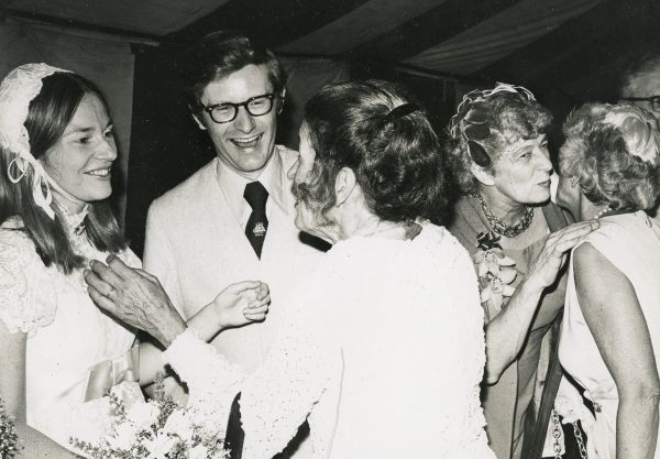 Moira Kennedy and Cormac O\'Malley at their wedding reception, Sturbridge, Massachusetts, September 18th 1971