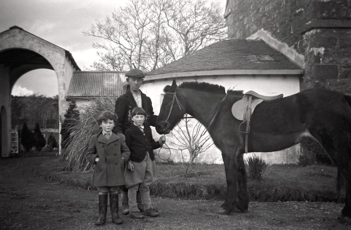 O'Malley // Connecticut & Mayo :: Cormac O'Malley, Pat Clark and Etain O'Malley at Burrishoole, County Mayo, 1947